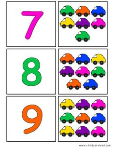 Back To School Self Correcting Number Puzzles Preschool Learning Activities, Preschool Lessons, Kindergarten Worksheets, Teaching Math, Toddler Activities, Preschool Activities, Kids Learning, Counting For Kids, Mazes For Kids