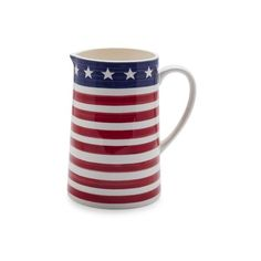 Flag Pitcher ($18) ❤ liked on Polyvore featuring home, kitchen & dining, serveware and sur la table
