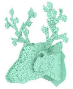 Hertenkop Miho kunststof mint