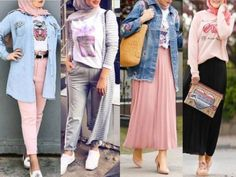 Hijab outfits in pastel colors – Just Trendy Girls