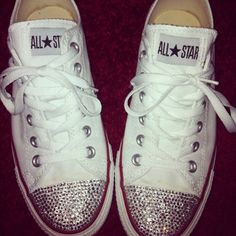 Love my sparkly converse that I customised