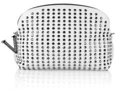 Versace Studded nappa leather clutch