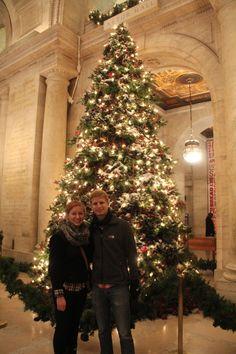 Christmas tree at NYPL