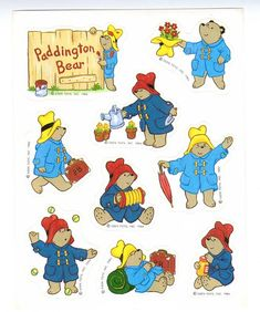 Vintage Paddington stickers going back to the 1980s. Paddington thinks he's looking pretty good for 30 years ago! | Paddington