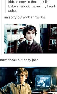 I don't know what the top one is from, but the second one is from Doctor Who, so that's pretty great.
