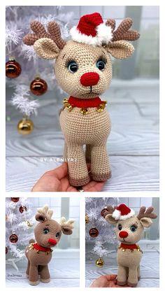 Crochet Christmas Decorations, Crochet Christmas Ornaments, Christmas Crochet Patterns, Holiday Crochet, Crochet Animal Patterns, Easter Crochet, Crochet Patterns Amigurumi, Crochet Crafts, Christmas Crafts