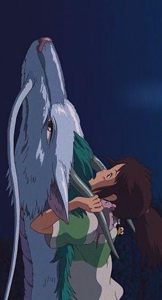 Haku e Chihiro Studio ghibli Studio Ghibli Art, Studio Ghibli Movies, Hayao Miyazaki, Spirited Away Wallpaper, Spirited Away Art, Manga Anime, Anime Art, Studio Ghibli Background, Chihiro Y Haku