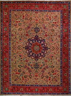 "Tabriz Persian Rug, Buy Handmade Tabriz Persian Rug 10' 3"" x 13' 5"", Authentic Persian Rug"