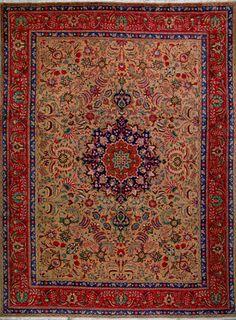 "Tabriz Persian Rug, Buy Handmade Tabriz Persian Rug 10' 3"" x 13' 5"", Authentic Persian Rug"