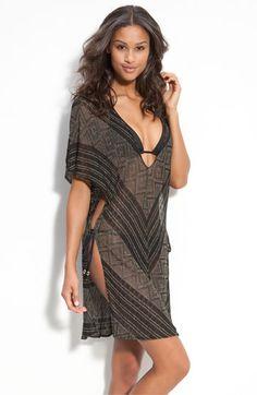 f0146e23737 Vitamin A®  Black Diamond Crochet Talitha  Tunic Cover-Up Trendy Swimwear