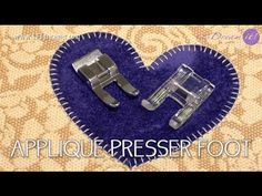 In this tutorial we'll show you how to use the applique presser foot, the appliques in fabric or cloth are perfect with this foot. Sewing Tutorials, Sewing Hacks, Sewing Projects, Quilting Projects, Sewing Tips, Sewing Ideas, Applique Quilt Patterns, Applique Designs, Sewing Patterns