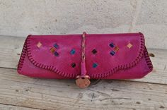 Tunisian Genuine Goat Leather Pencil Case / by SaharartDouz