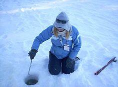 Skimming the ice-fis