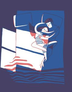 Big Art Print - Couple in Bed Truly gorgeous illustration as a high quality art print - by Carolina Buzio. Big Art Print - Couple in Bed Truly gorgeous illustration as a high quality art print - by Carolina Buzio. Art And Illustration, Illustrations Posters, Art Graphique, Oeuvre D'art, Art Inspo, Illustrators, Artsy, Art Prints, Drawings