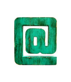 At Symbol Pictured In Teal  Wall Sign Wooden by Timberandcompany, $29.00