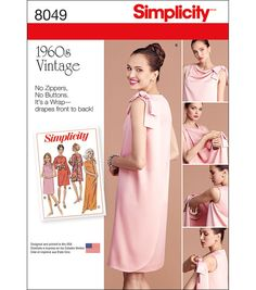 Simplicity Misses' Vintage 1960'S Three Armhole Dress-16-18-20-22-24