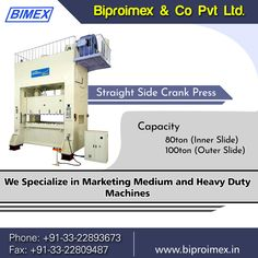 Utilize the advanced technology of straight side crank press. Rely on Biproimex, grow your own heavy duty business!