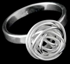 Embers & Otis Jackson: A wire nest ring. Member stand number: ZCI
