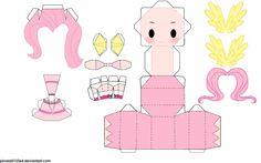 fluttershy chibi papercraft
