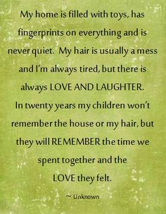 for my girls to remember as they raise their children...