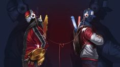 Zed and Shen Wallpaper by Toemass202 TPA Shen and SKT Zed