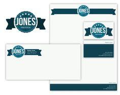 Jones Printing Co. Identity Package by Alex Gilbert, via Behance