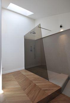 Colored Glass for shower! Cesena Penthouse | Studio Tisselli | Est Living