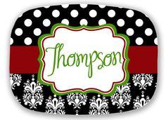 personalized melamine platter - Christmas custom tray