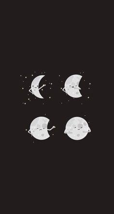 Luna llena (porque se come las estrellas).  Full moon (because it eats the stars).