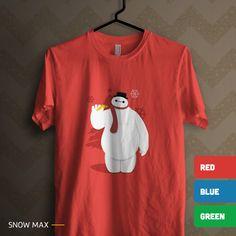 'Snow Max': Kaos bergambar robot manusia salju. Ada 3 pilihan warna kaos. Size lengkap, mulai dari kaos anak sampai kaos dewasa. All items ready stock di www.teesalonika.com --- CP : BBM (32605316) / WA (08811575513) ---- #KaosKristen #KaosRohani #Kaos #Baymax #Natal