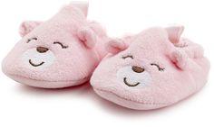 Carter's Hosiery Baby-girls Newborn Bear Terry Bath Slipper
