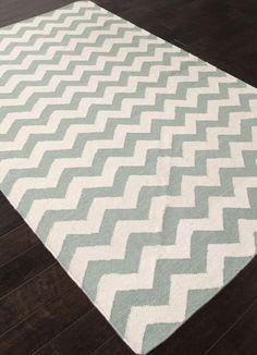 Jaipur Rugs RUG109210 Flat-Weave Durable Wool Blue/Ivory Area Rug ( 5X8 )