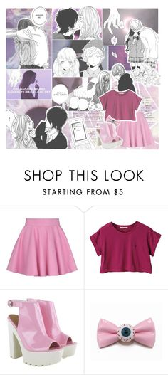 """You touched me and suddenly I was a lilac sky."" by crybabycry on Polyvore featuring Olympia Le-Tan, women's clothing, women, female, woman, misses and juniors"