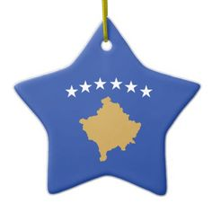 Hang Country ornaments from Zazzle on your tree this holiday season. Start a new holiday tradition with thousands of festive designs to choose from. Kosovo Flag, Star Ornament, Ornaments, Political Events, National Flag, Holiday Traditions, Flags, Create Your Own, Kids Outfits