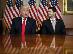 In this Nov. 10, 2016, photo, President-elect Donald Trump and House Speaker Paul Ryan of Wis., pose for photographers after a meeting in the Speaker's office on Capitol Hill in Washington. Washington's new power trio consists of a bombastic billionaire, a telegenic policy wonk, and a taciturn political tactician. How well they can get along will help determine what gets done over the next four years, and whether the new president's agenda founders or succeeds. (AP Photo/Alex Brandon)