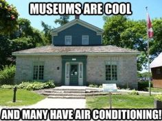 Museums are cool... and many have air conditioning!