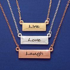 Live Love Laugh 3 Layer Necklace