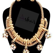 Products · Gold Stone Charm Necklace Set · Ashas Jewelrybox's Store Admin