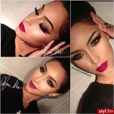 Her make up does give her face definition