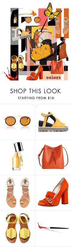 """colors"" by fl4u ❤ liked on Polyvore featuring Krewe, Strategia, Clinique, Lodis, Gucci and TRACEY NEULS"
