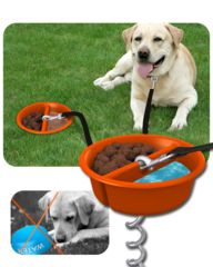 Better Tether Dog Tether. This is quite brilliant!