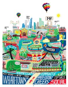 """""""Melbourne"""" by Antoine Corbineau from Visual Storytelling: Inspiring a New Visual Language  #infographic #illustration #visualstorytelling"""