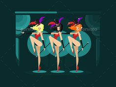 Cabaret Dance Girls
