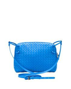 V1ZZK Bottega Veneta Veneta Small Crossbody Bag, Cobalt Blue