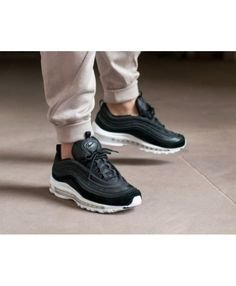 Nike Air Max 97 Trainers In Black White Suede 0458953f57