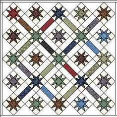 Free quilt pattern for Morris Apprentice repros at Barbara Brackman's MATERIAL CULTURE