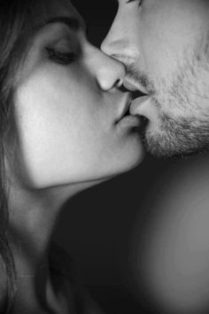 """P E R F E C T I O N - the key to a """"hot kiss"""" picture is to NOT pucker up (that just gives you duck face) but instead just slightly open your mouths together. Voila! Hot pic!"""