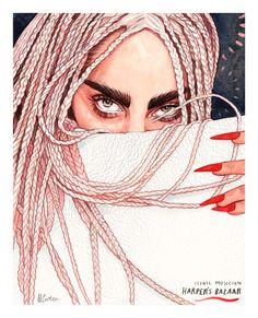 Lady Gaga fanart by Helen Green