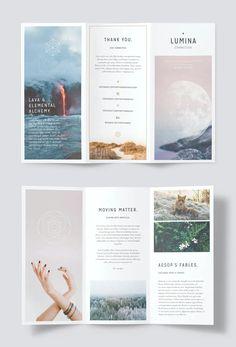 Brochure Ideas, Brochure Design, Brochure Template, Graphic Design Layouts, Layout Design, Case Study Design, Advertising Tools, Tri Fold, Brochures