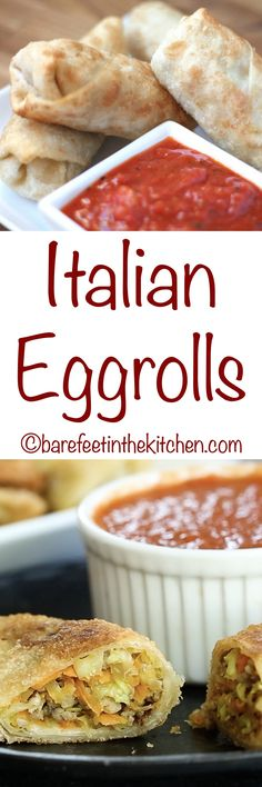 You're going to love these Italian Eggrolls! get the recipe at barefeetinthekitchen.com